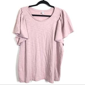 3/$25 Old Navy Flutter Sleeve Top NEW
